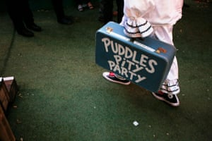 Puddles the clown at George Square