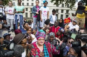 Batmanghelidjh talking to supporters and reporters in London last week.
