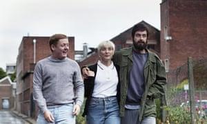 L-r: Thomas Turgoose (Shaun), Vicky McClure (Lol) and Joe Gilgun (Woody) photographed on location.