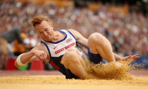 Greg Rutherford wants to keep the flag on his team vest.