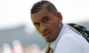 Enfant terrible: Kyrgios has apologised and been fined for his remark.