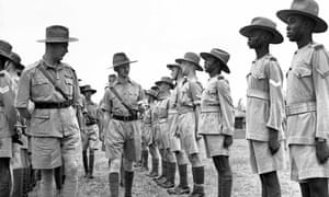Recruitment of Nigerian troops in 1943.