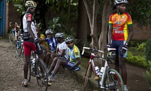 Cyclists from Team Rwanda, who will join forces with riders in Eritrea and Ethiopia to form Team Africa Rising.