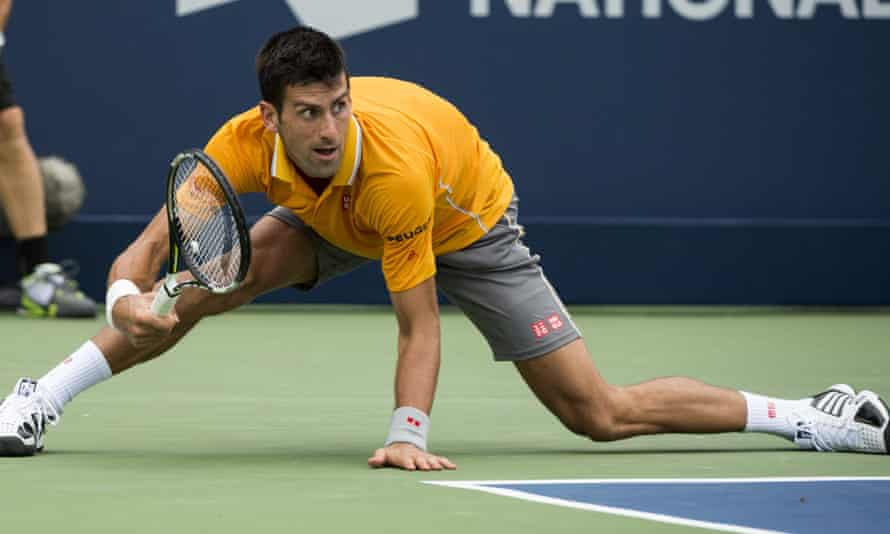Novak Djokovic barely put a foot wrong in his straight-sets win over Jeremy Chardy of France in the semi-finals of the Rogers Cup in Montreal.