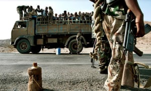 The Eritrean army in the western city of Barentu