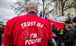 Demonstration against the discrimination of Polish people in London and UK