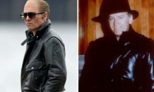 Film composite of Johnny Depp as Whitey Bulger in Black Mass and Whitey Bulger (credit: AP)