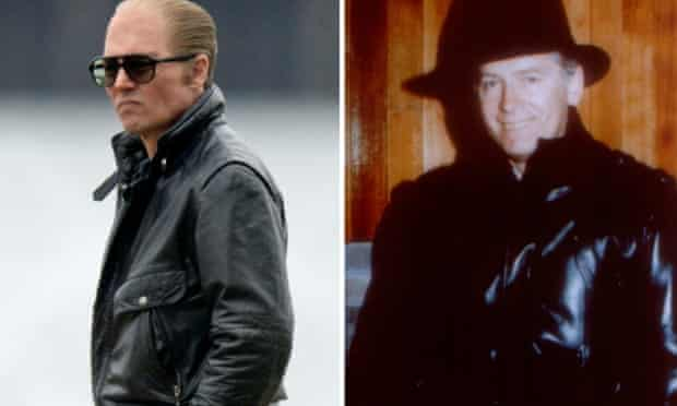 Film composite of Johnny Depp as Whitey Bulger in Black Mass and Whitey Bulger (credit: AP)