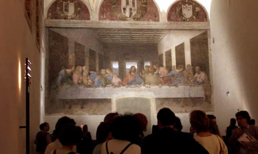 Leonardo da Vinci's The last Supper restored is unveiled in 199 after 20 years of restoration.