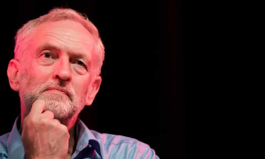 Jeremy Corbyn pondering a puzzle.