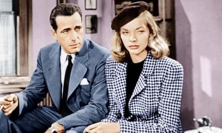 Humphrey Bogart, Lauren Bacall in The Big Sleep.
