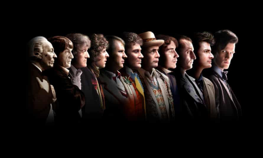BBC picture of the Eleven Doctors, from left, William Hartnell, Patrick Troughton, Jon Pertwee, Tom Baker, Peter Davison, Colin Baker, Sylvester McCoy, Paul McGann, Christopher Eccleston, David Tennant and Matt Smith.