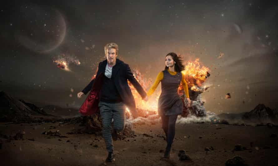 The new season … the current Doctor Who (Peter Capaldi) and assistant Clara (