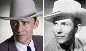 Tom Hiddleston as Hank Williams in I Saw the Light. Right: The Real Hank Williams