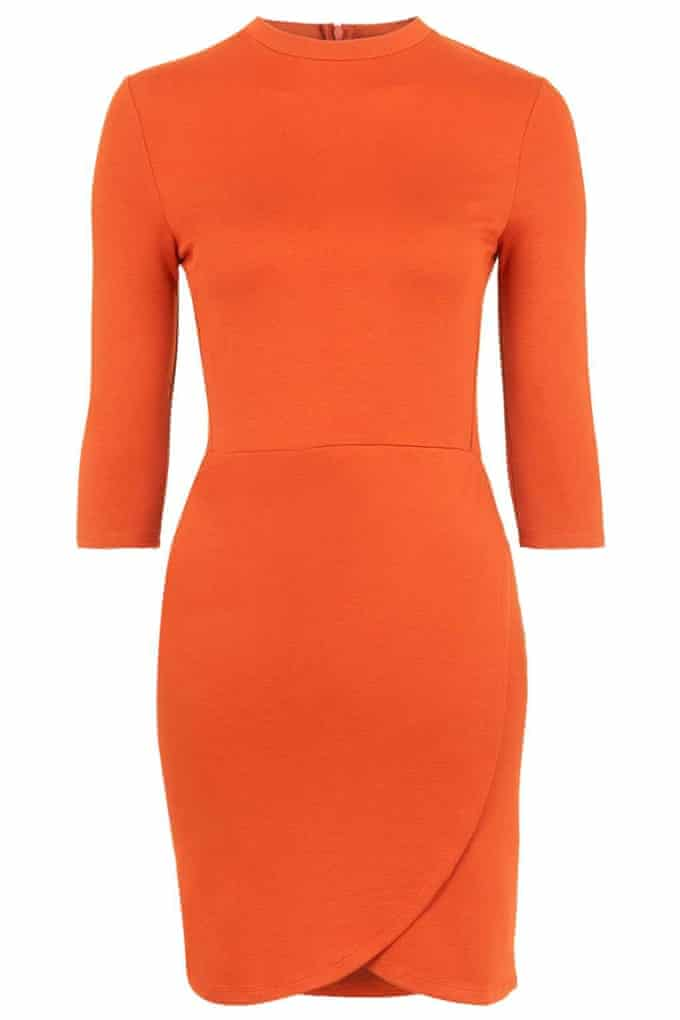 Wrap front Bodycon dress by Topshop.