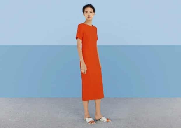 Berner orange dress, Finery.