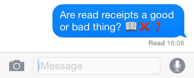 read receipts