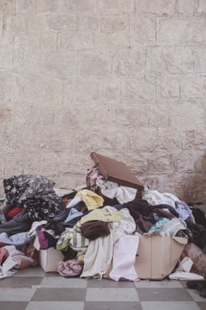 Locals give away secondhand clothes for the migrants – many of the people of Ventimiglia show sympathy for the migrants' situation