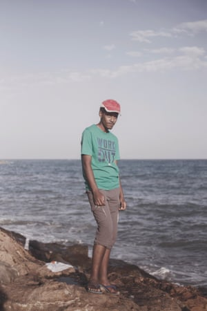 21-year-old Mohamed from Sudan, where many of the migrants have come from, as well as Somalia, Eritrea, and the Ivory Coast.
