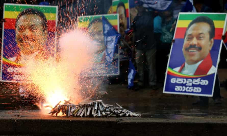Mahinda Rajapaksa was attempting a return to power in Sri Lanka.