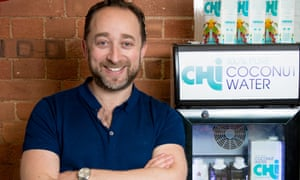 Jonathan Newman with Chi coconut water
