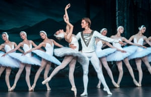 Irina Kolesnikova and Denis Rodkin with the St Petersburg Ballet in Swan Lake.