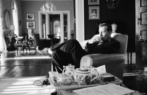 Gore Vidal at home in Edgewater, New York, in 1960.