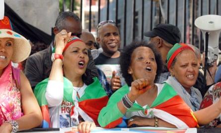 Eritrea UN report protest