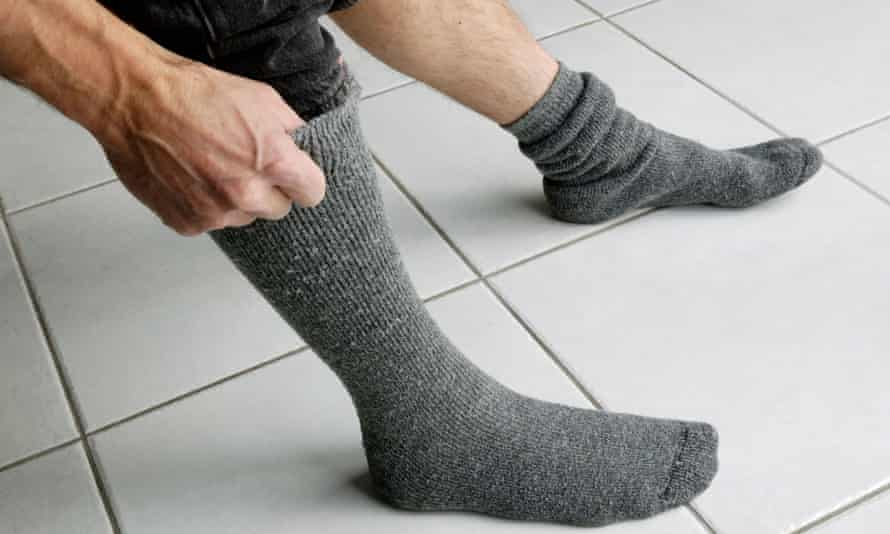 Most Socks Put On A Foot In One Minute