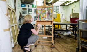 Julia Nagle at work in her east London studio.