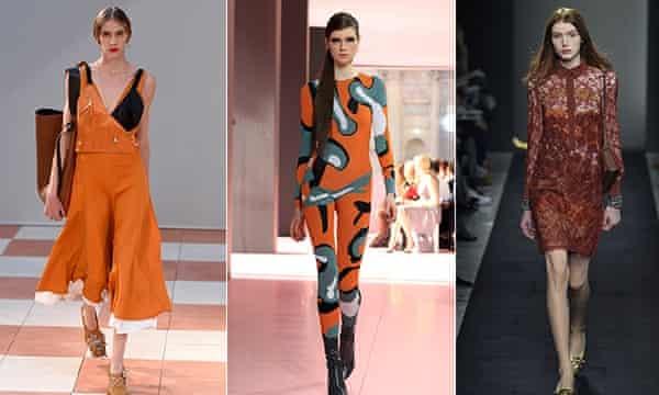 Orange on the catwalk