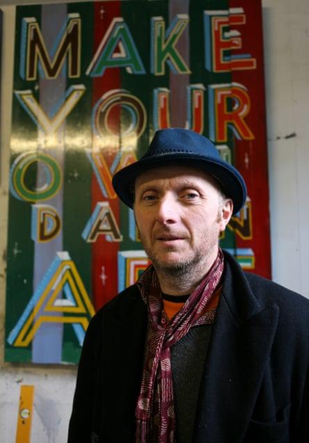 Patrick Brill , artist, ( aka Bob and Roberta Smith )