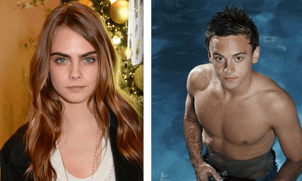 cara delevingne and tom daley