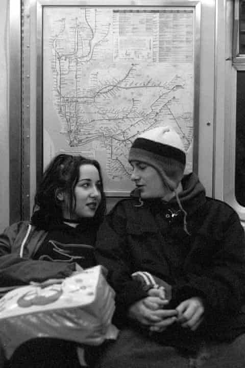 High and Justin Pierce on the subway.