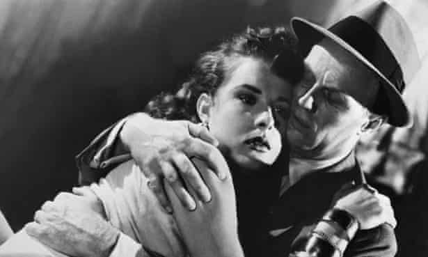 'Erotic charge': Jean Peters and Richard Widmark in Pickup on South Street.
