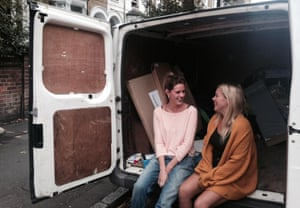 Libby Freeman, right, with Alice Zimsek, who drove from Nottingham to London to deliver donations.