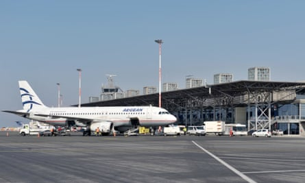 Thessaloniki airport, one of 14 in Greece to be run by a German company as a condition of bailout funding.