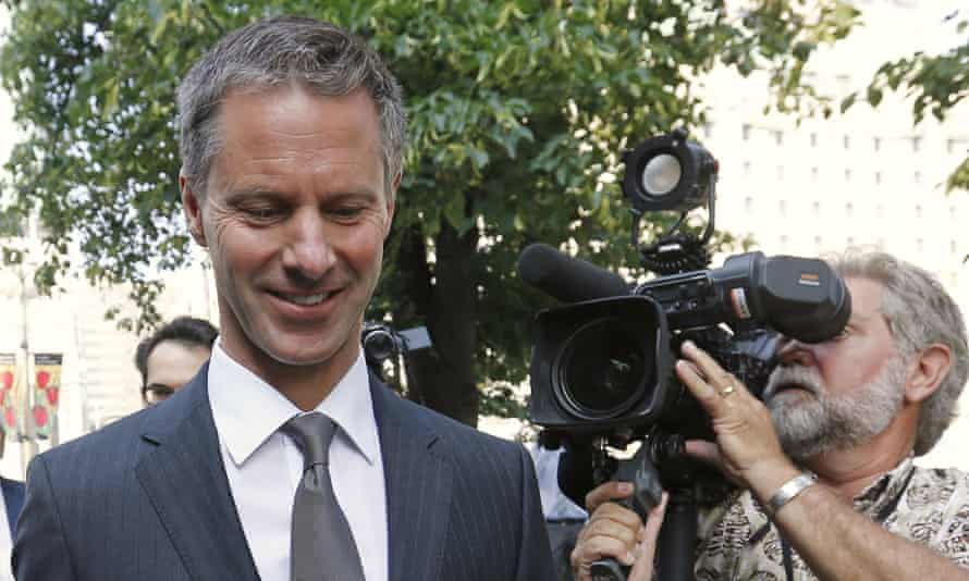 Nigel Wright, former chief of staff to Canada's prime minister, Stephen Harper, arrives to testifying in the trial of Senator Mike Duffy.