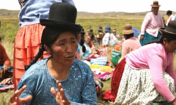 Sonia Ticona, local indigenous Aymara leader