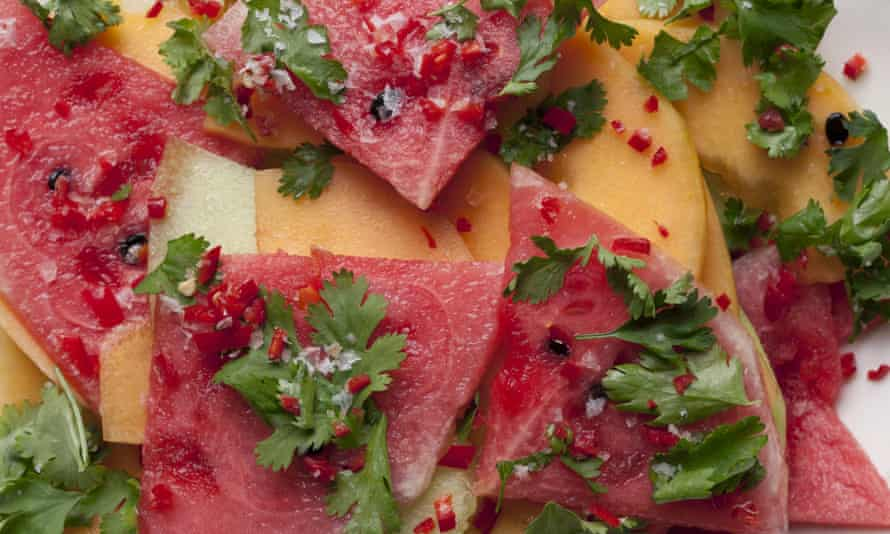 Three Melon Salad with Chilli and Seasalt
