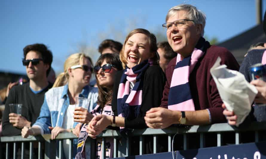 Observer writer Katie Forster and her father watching the match against Maidstone FC.