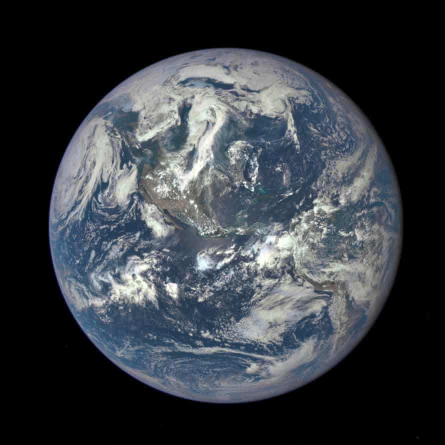 Earth from one million miles away, showing North and Central America. The image was taken 6 July, 2015.