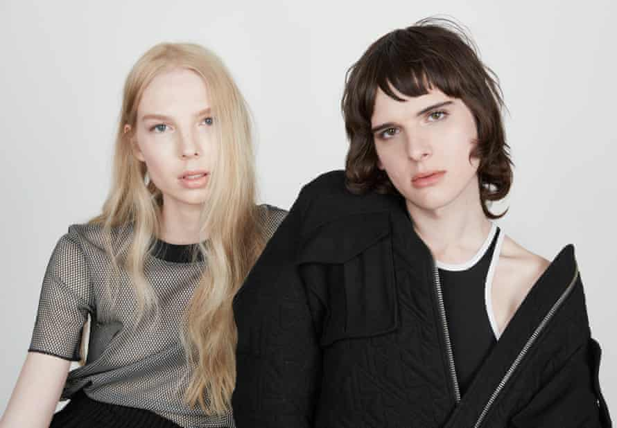 Hari Nef, right, modelling for The Gaze, & Other Stories capsule collection
