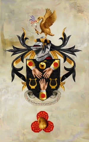 Heston Blumenthal coat of arms designed by Dave McKean.