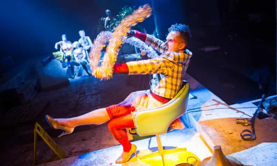Seiriol Davies in Islands by Caroline Horton at the Bush theatre in January 2015.