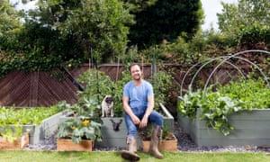 Brett Graham grows celeriac, japanese spinach and white  icicle radishes.