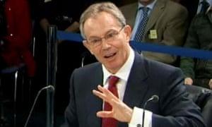 Tony Blair at the Chilcot inquiry, January 2010