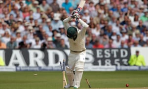 Australian cricketer Nathan Lyon is bowled out and England win the Ashes