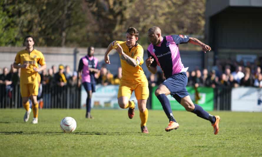 'This level isn't just kicking hoof and knocking about  in the mud. It's decent football': Dulwich Hamlet's match against Maidstone FC.