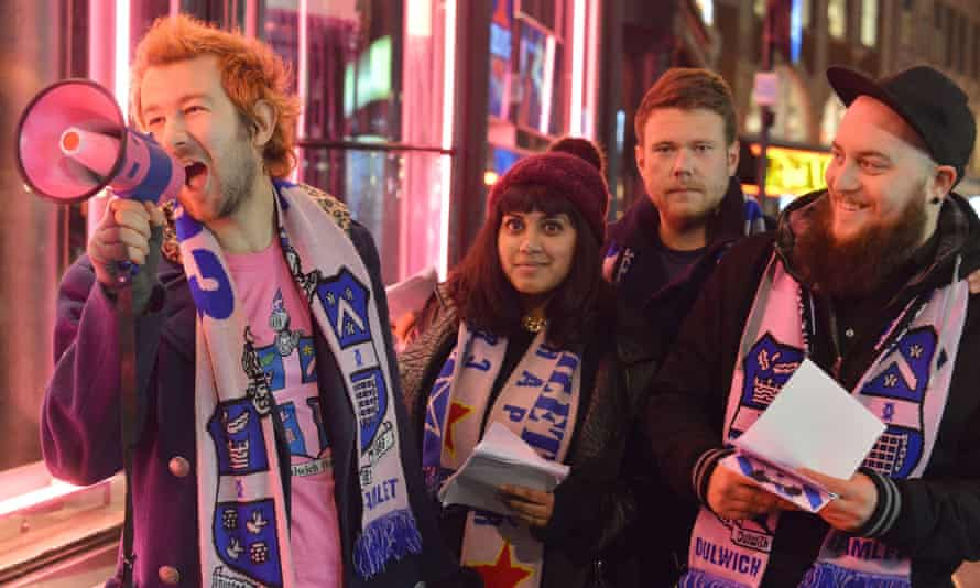 True colours: fans get political before the Stonewall FC game.